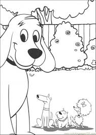 dog coloring pages online clifford and friends together coloring page free clifford the
