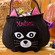 personalized trick or treat bags personalized embroidered trick or treat bags clearance deal