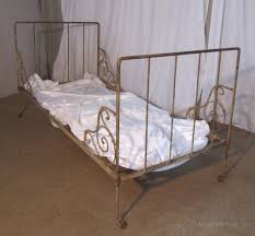 french single iron day bed original shabby paint antiques atlas