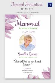 funeral invitation template free funeral announcement cards lareal co