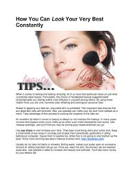 how you can look your very best constantly pdf flipbook