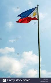 Filipino Flag Colors Philippines Filipino Flag Flying On Flagpole In Manila Stock Photo