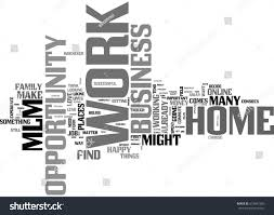 graphic design works at home work home business opportunity mlm text stock vector 672841309
