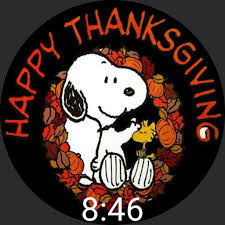 thanksgiving snoopy turkey faces for smart watches