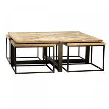 rhys nesting tables pottery barn dark brown colour full varnished