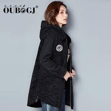 oubogj black fur coat women u0027s hooded 2017 winter dress women u0027s