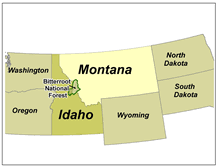 bitterroot mountains map bitterroot national forest home