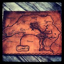 leather map a leather map of cyrodiil by leather by alex on deviantart