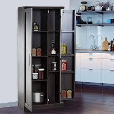 black kitchen pantry cupboard walomes 72 wood free standing kitchen pantry