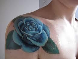yellow flower tattoos blue rose tattoo by andrew soldana tattoos pinterest blue