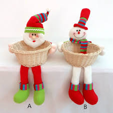 Decorative Item For Home Santa Claus Doll Christmas Baskets Child Supplies Crafts Home