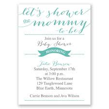 s shower invitations let s shower mini baby shower invitation invitations by