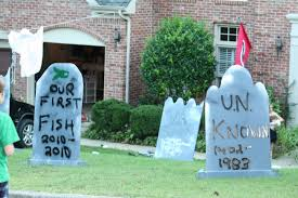homemade halloween yard decorations