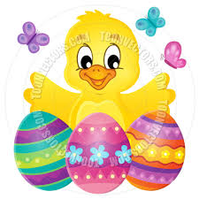 cartoon chicken with easter eggs theme image by clairev toon