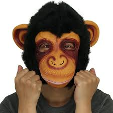 amazon com novelty latex rubber creepy chimp monkey gorilla head