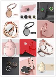 golden hand ring holder images Water drop shape colorful phone hand metal hook sticky plate jpg