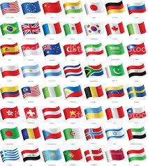 popular world most popular waving flags illustration stock vector art