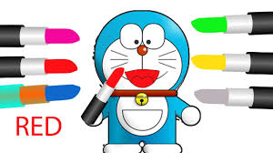 learn colors with doraemon lipstick colours to kids children