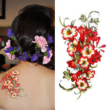 new arrival tattoo flowers designs beautiful body art makeup