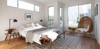 Scandinavian Modern Platform Bed Mid Century Modern Slat Bench - Mid century bedroom furniture los angeles