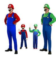 cheap mario luigi halloween costumes for kids free shipping