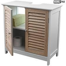 armadietto da bagno da bagno sotto lavabo legno mdf armadietto con 2 ante 60x30x60 cm