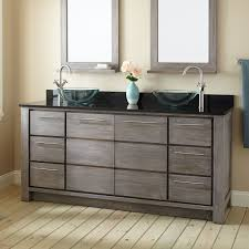 72 venica teak vessel sinks vanity gray wash bathroom