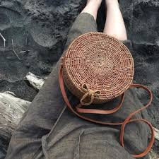 aliexpress com buy straw bags circle rattan bag women round