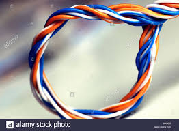plug wire color lan stock photo royalty free image 136634069 alamy