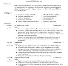 Stand Out Resume Templates Pretentious Inspiration Server Resume Samples 3 Unforgettable
