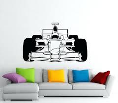 wall vinyl wall decor cool racing car wall sticker race rally car mural art