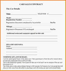 sales agreement contract car sale agreement contract car sale