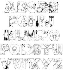 abc animal coloring pages coloring page for kids