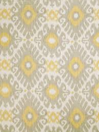 Yellow Home Decor Fabric A Modern Ikat Fabric In Nickel Gray Lemon Yellow And Ivory This