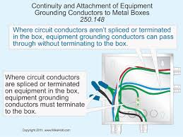 code q u0026a attachment of equipment grounding conductor to box