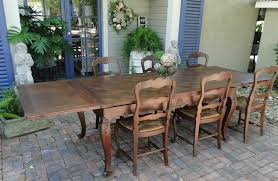antique country french oak dining table with draw leaf and lovely
