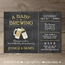 a baby is brewing brewery baby shower invitation