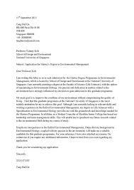Application letter german