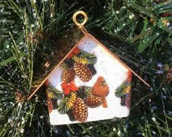 birdhouse ornament etsy