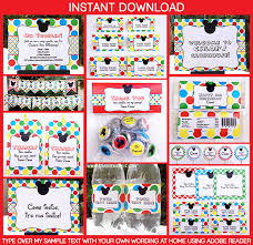 mickey mouse clubhouse party supplies mickey mouse clubhouse printable invitation party decorations