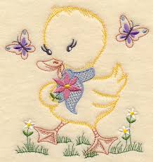 Kitchen Towel Embroidery Designs Machine Embroidery Designs At Embroidery Library Duckling And