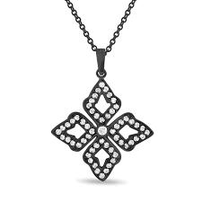 vintage diamond necklace pendants images Vintage diamond leaf pendant diamond floral pendant necklace jpg