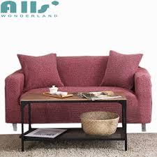 couvre canapé d angle vin meubles étirer la couvre tricoté tissu canapé d angle