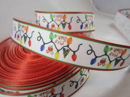 christmas lights ribbon xmas grosgrain ribbon christmas craft