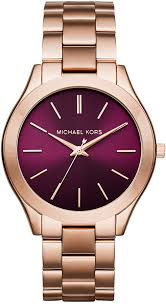 rose tone stainless steel bracelet images Michael kors michl kors slim runway rose gold tone stainless steel jpg