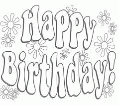 printable birthday card decorations free printable birthday cards to color happy colouring regarding