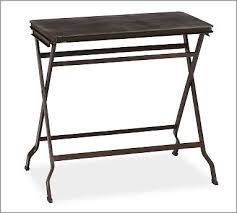Pottery Barn Willow Table 179 Carter Metal Folding Tray Table Potterybarn Overall 23