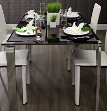 Dining Table Design With Glass Top Z124 Sleek Tempered Glass Top Dining Table Modern Dining
