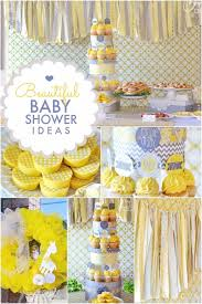 yellow baby shower ideas yellow grey bundle of boy s baby shower spaceships and