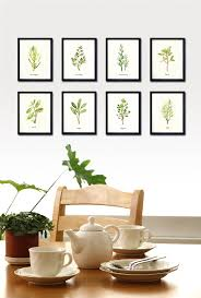 painting for kitchen herb print watercolor painting botanical chart kitchen art set